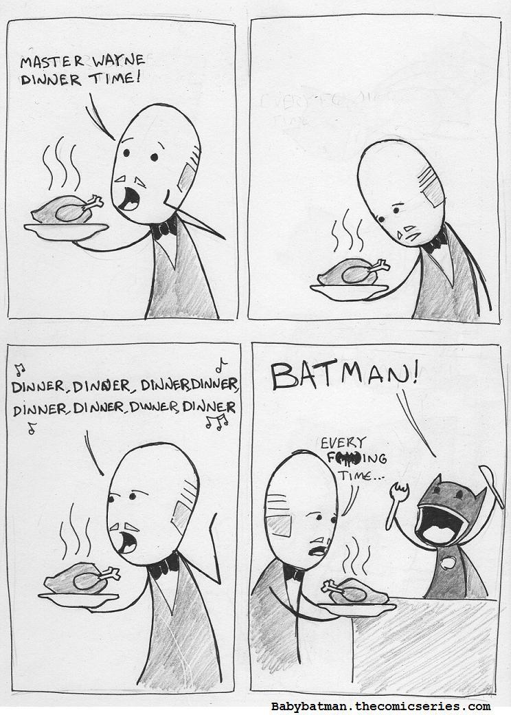 A regular Wayne Manor Meal