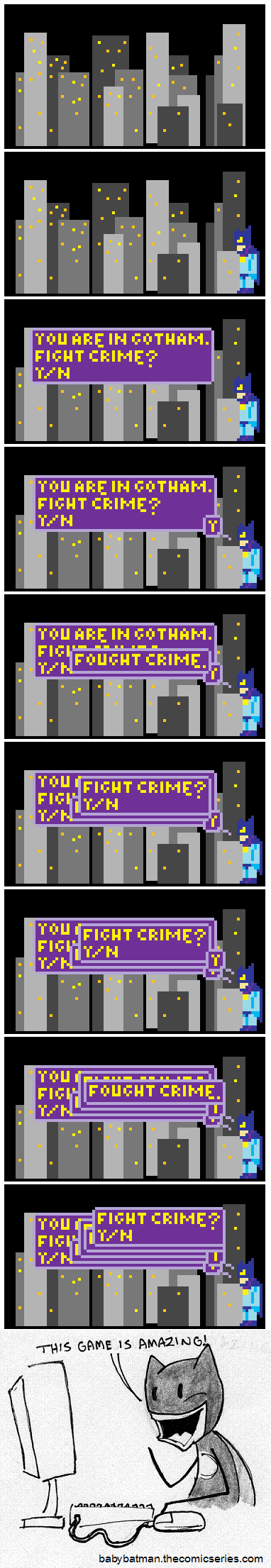 The game based on the webcomic based on the films based on the comic book characters